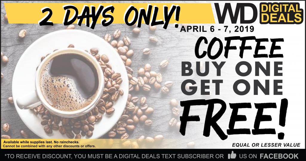 Bogo Free Coffee